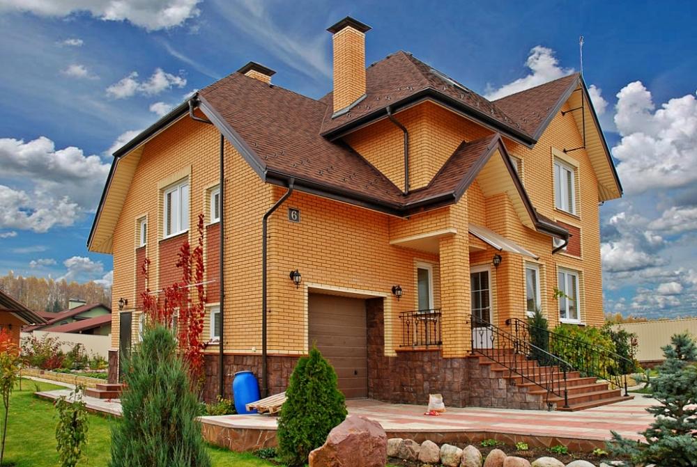 дома фотогалерея домов из кирпича раскладывания