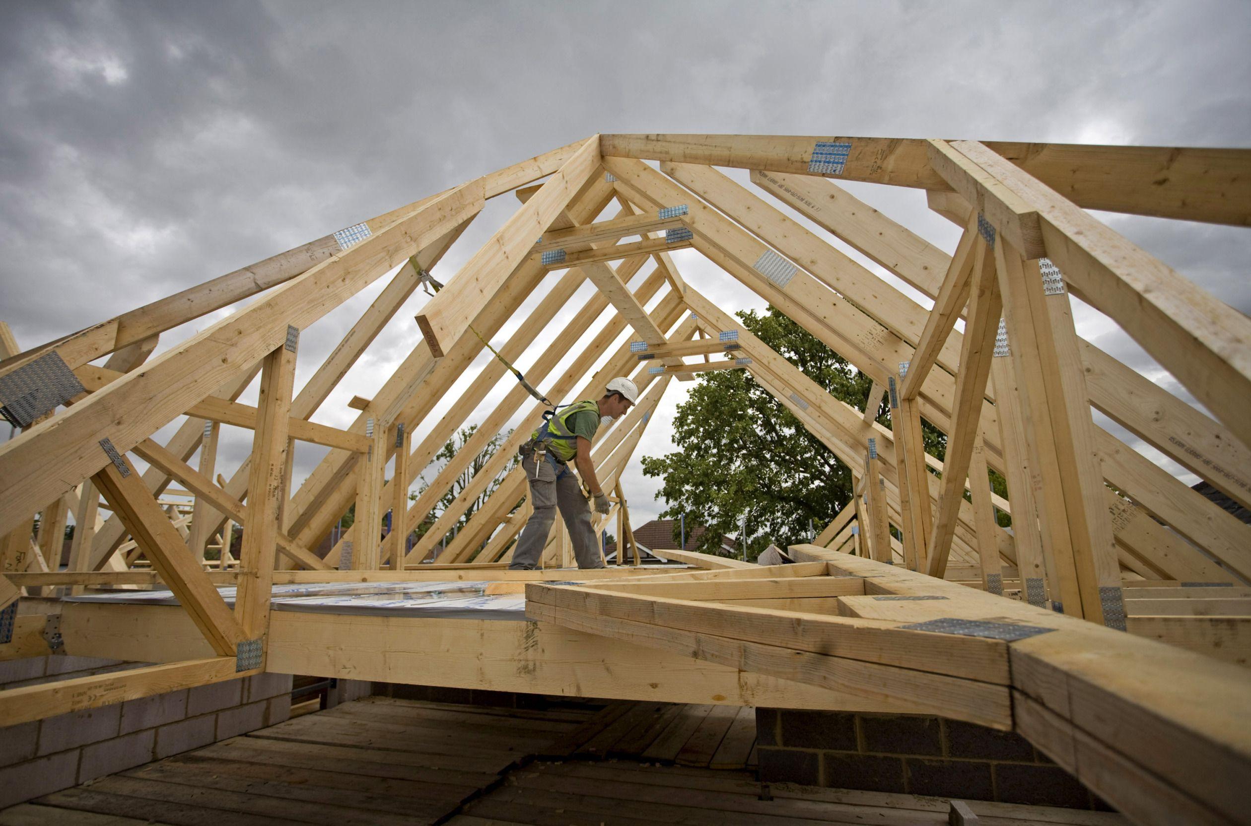 Картинки строительство крыши дома